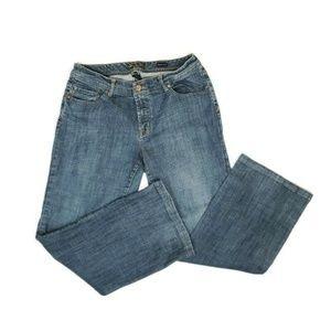 Seven7 Womens Bootcut Blue Jeans